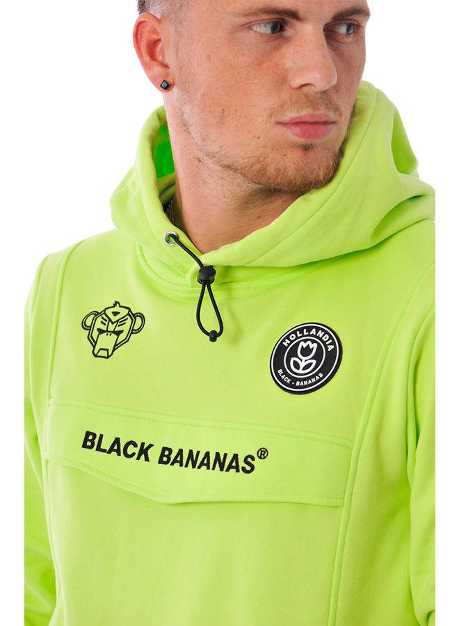 Black Bananas - Anorak Hoodie Neon Green