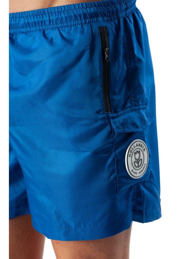 Black Bananas - Palm Pocket Swimshort Cobalt Blue
