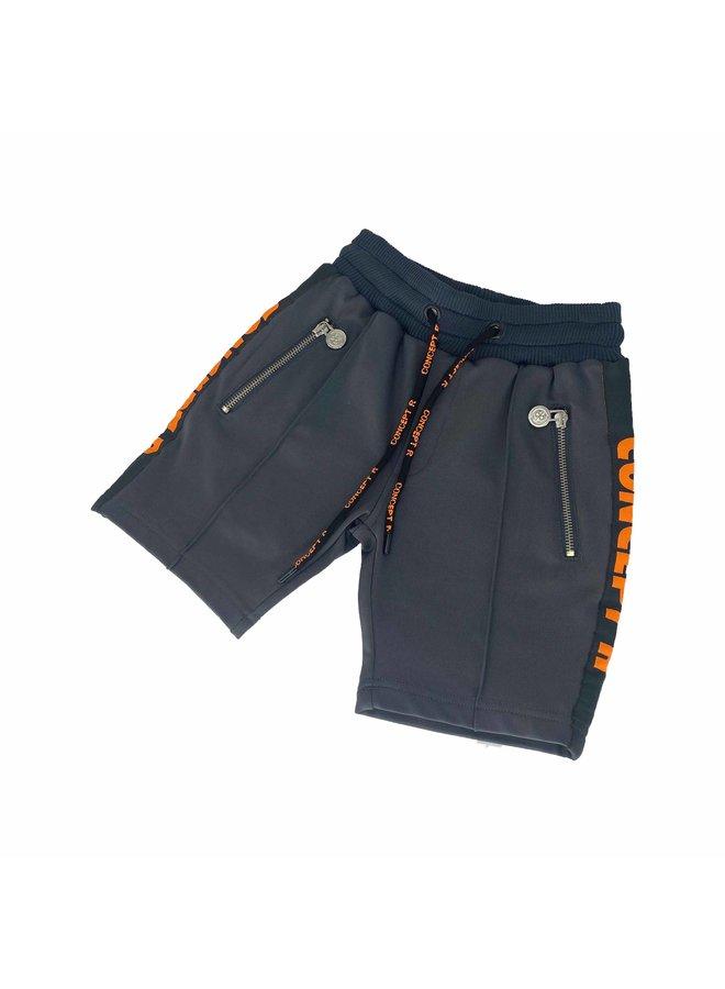 Concept R - Kids Track Short Taped Grey Orange