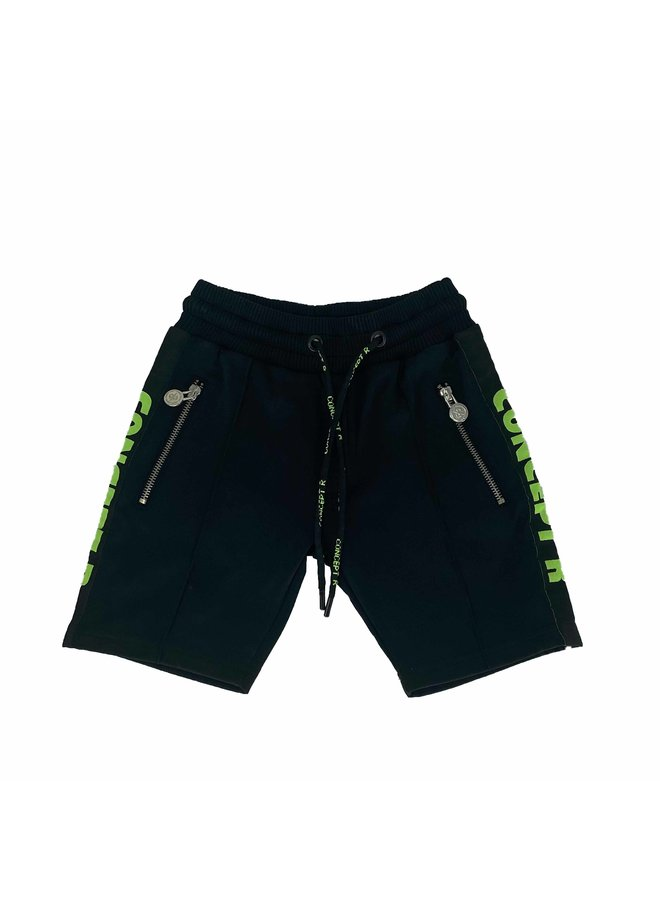 Concept R - Track Short Taped Black Fluor