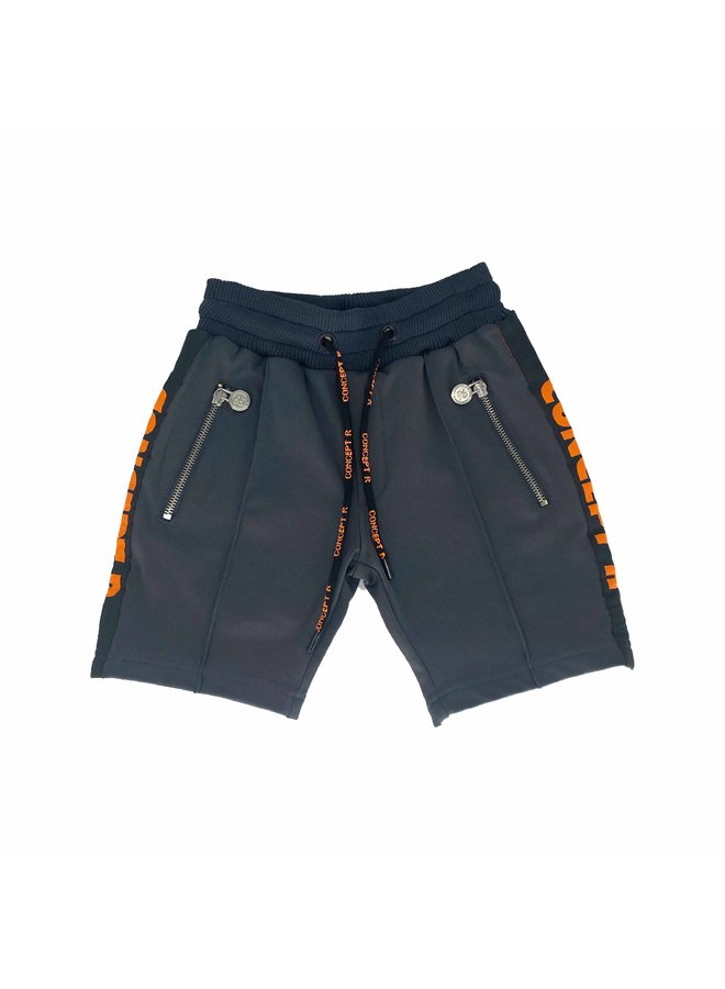Concept R - Track Short Taped Grey Orange