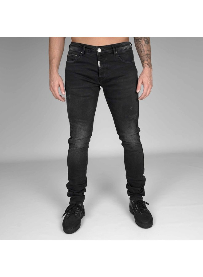 AB Lifestyle - Stretch Jeans Taped Pocket - Donker Grijs