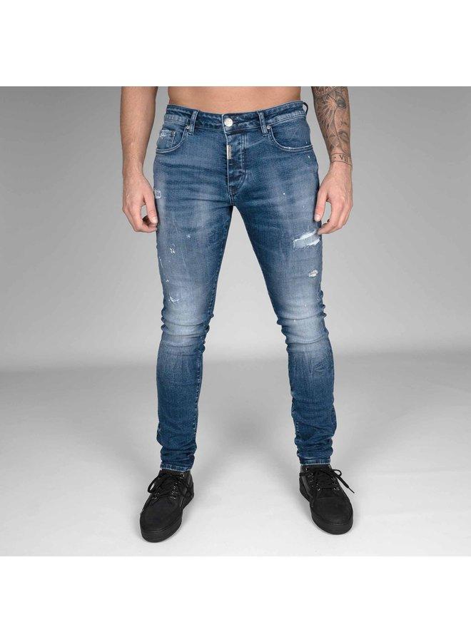 AB Lifestyle | Stretch Jeans Splash - Dark Blue