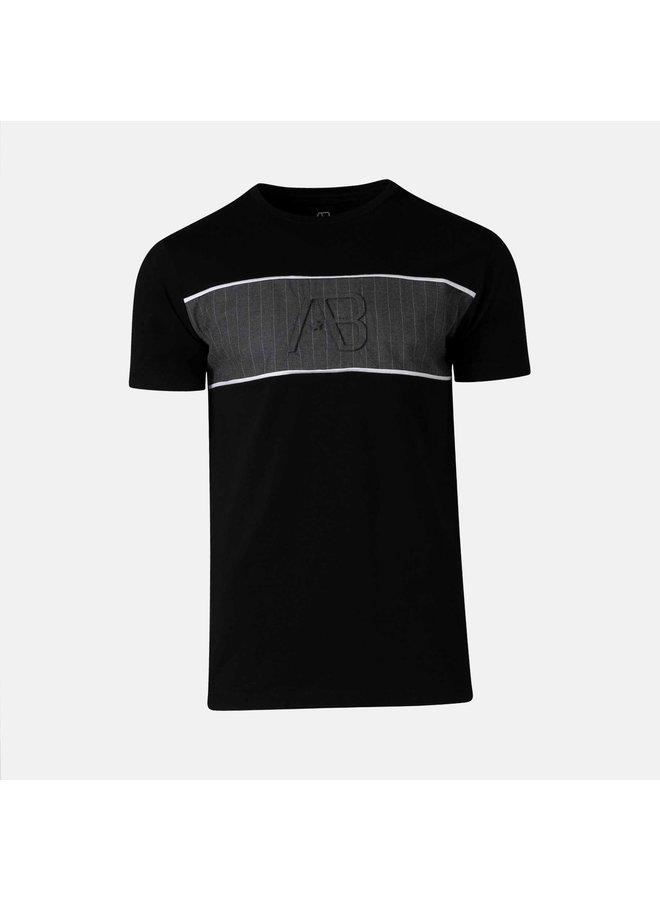 AB Lifestyle - Matching Pinstriped Tee  Black Grey