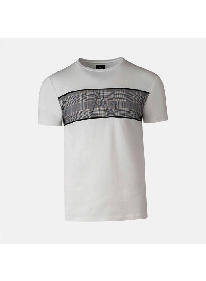 AB Lifestyle   Matching Checkers Tee White