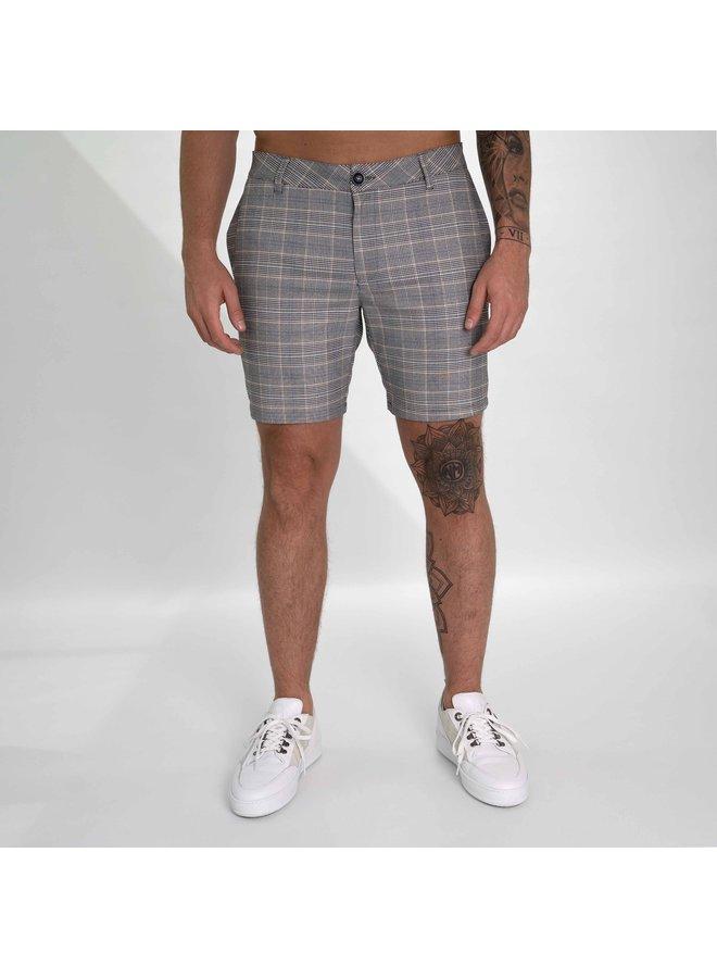 AB Lifestyle - Matching Checkers Chino Short Grey White