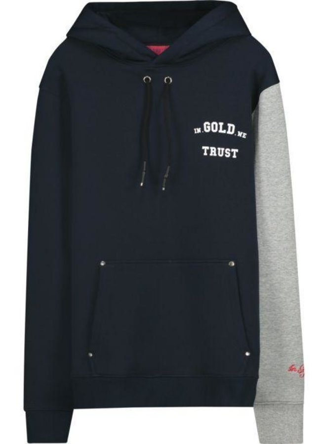 In Gold We Trust - KIDS The 4:44 Hoodie Blue Grey