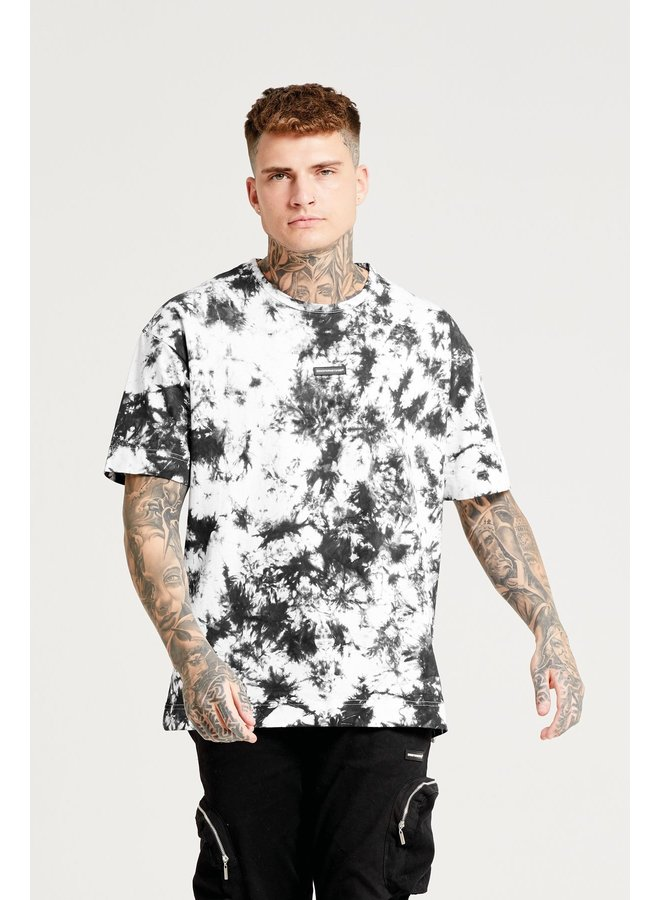 Good For Nothing - Oversized Space Tie Dye Black T-shirt