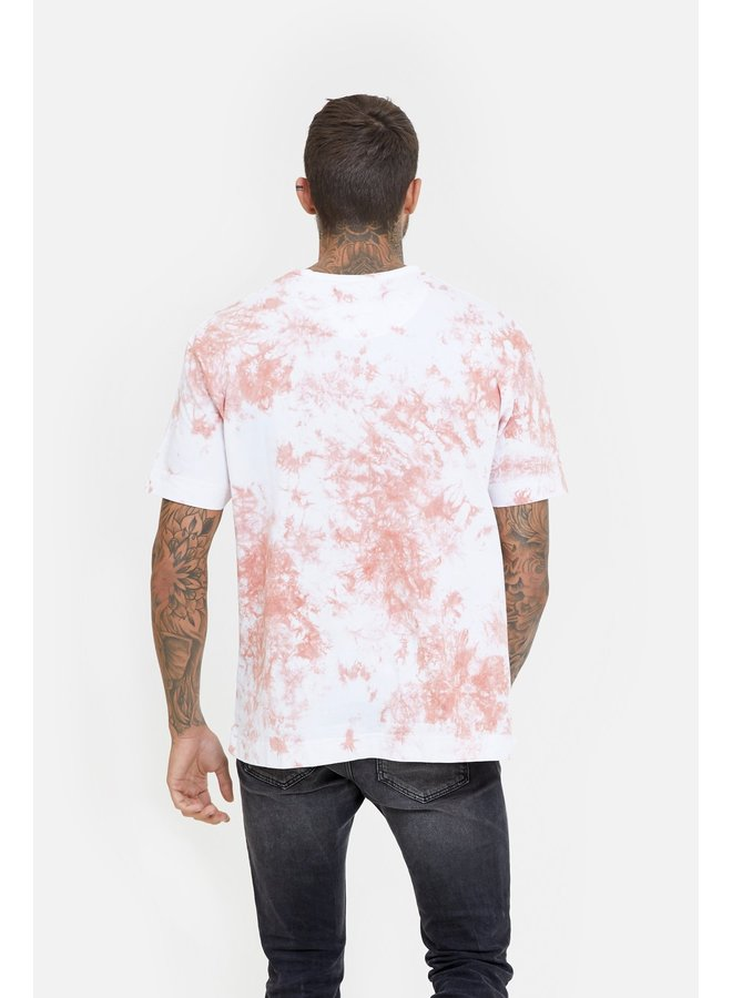 Good For Nothing - Oversized Space Tie Dye Coral T-shirt