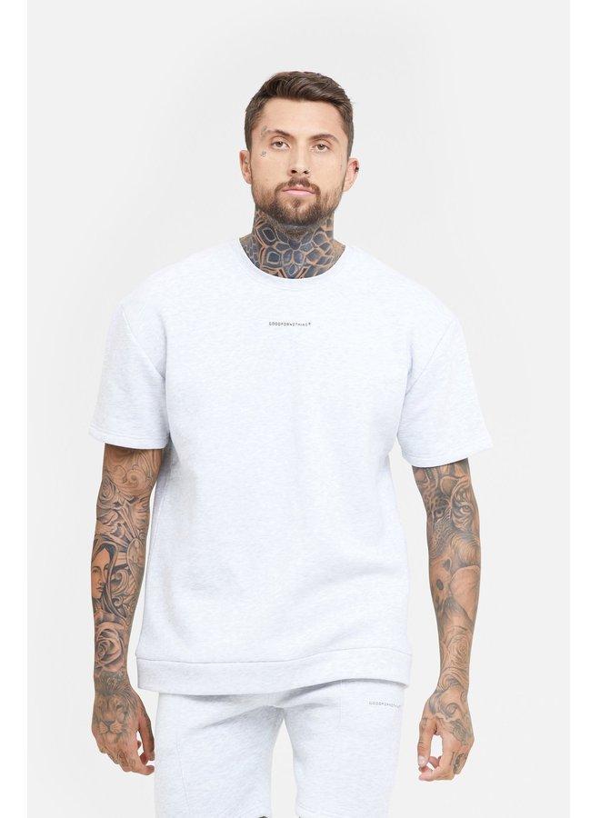 Good For Nothing - Oversized Ice Grey Marl Sweatshirt