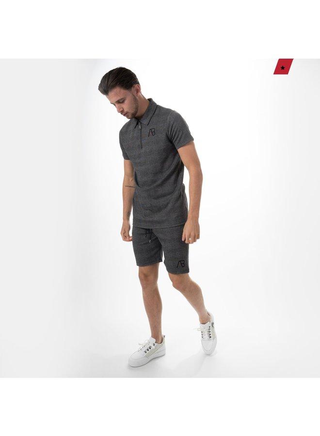 AB Lifestyle - Checkers Short Dark Grey