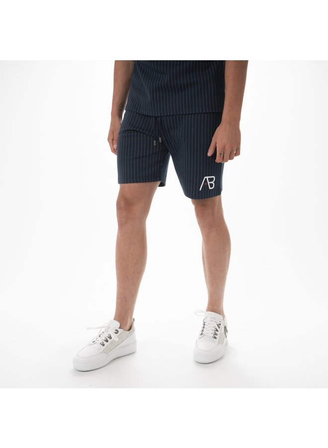 AB Lifestyle - Pinstripe Short Navy White