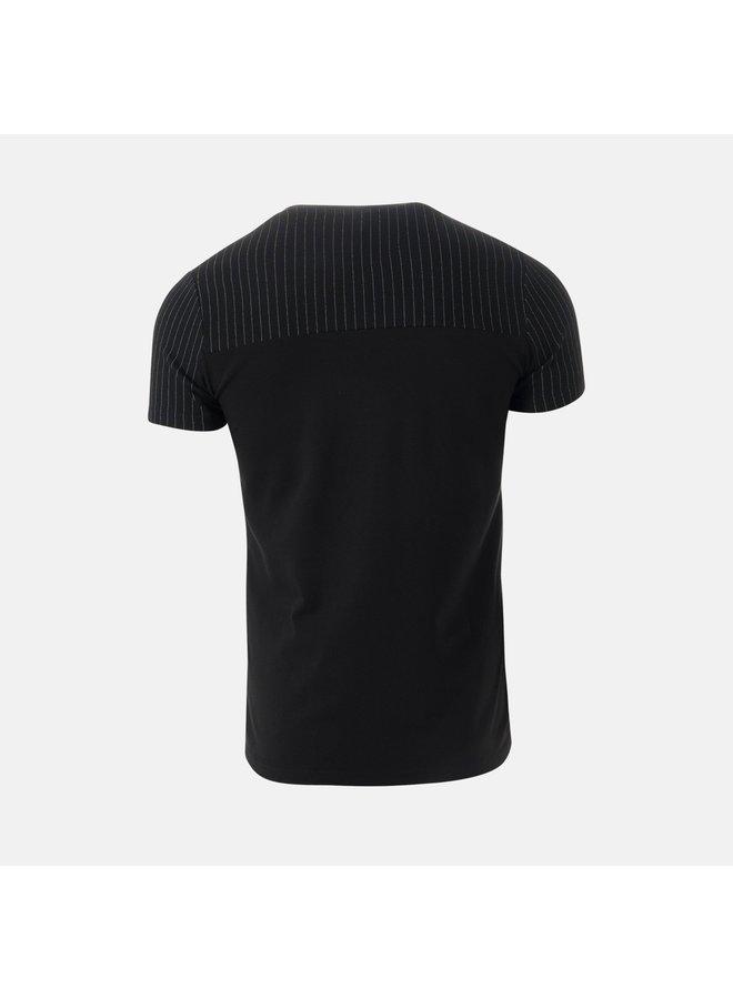 AB Lifestyle - Pinstripe Tee Black White