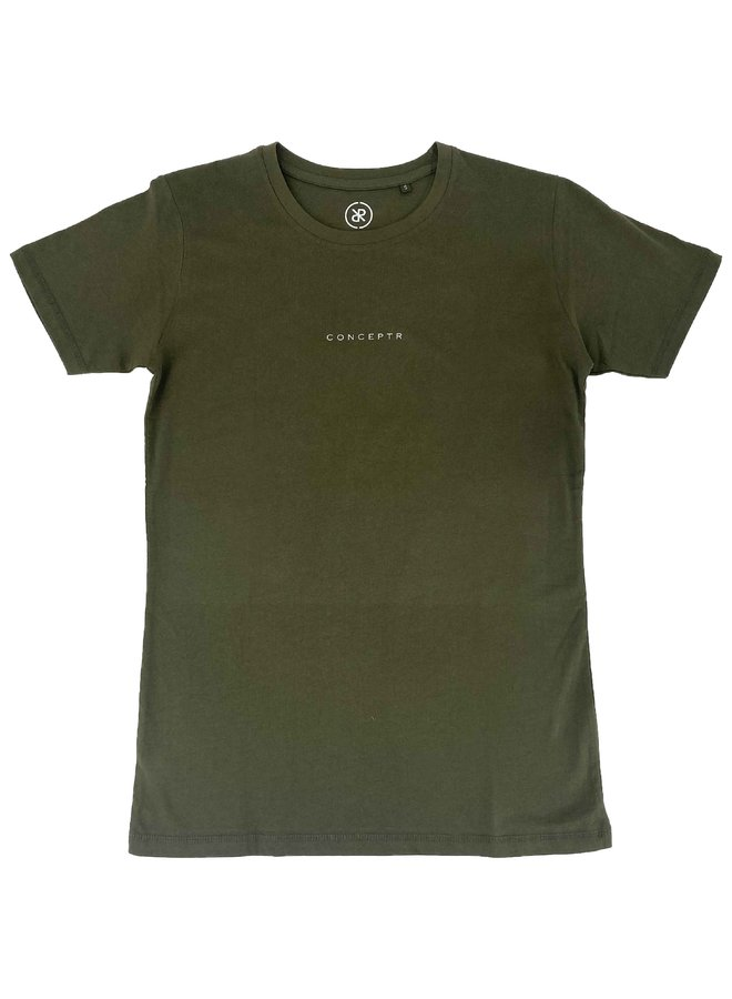 Concept R - Letters Tee Army Green