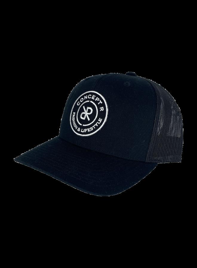 Concept R - Retro Trucker Logo Cap Black