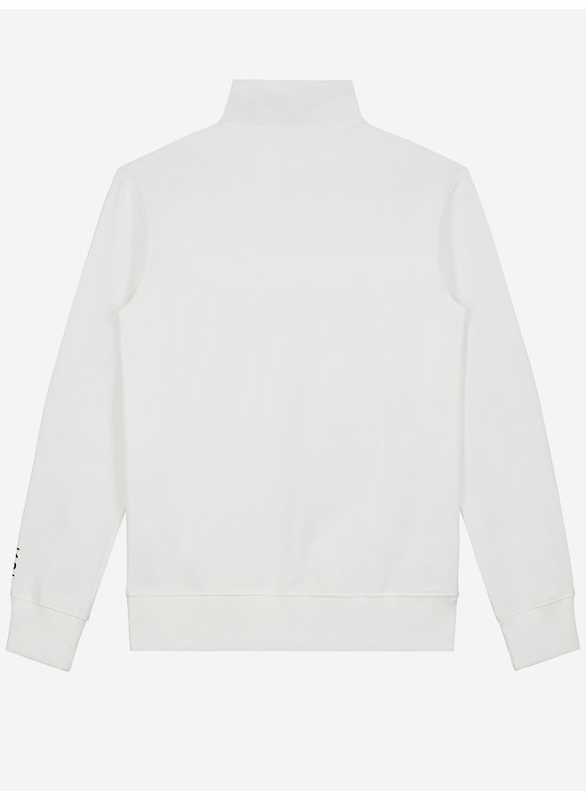 Sustain - Reflective Loose Fit Anorak Sweater Off White