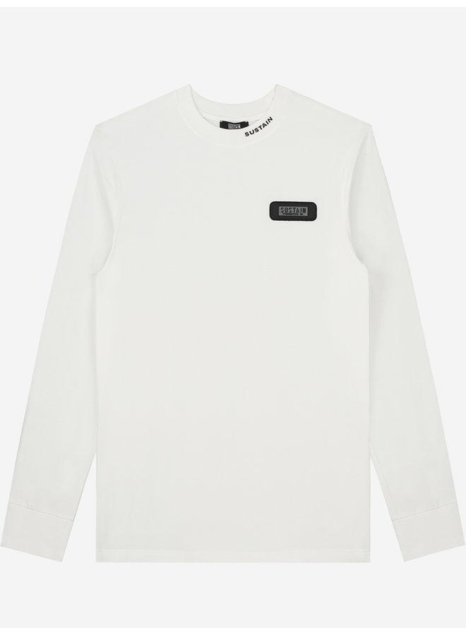 Sustain - Rubber Patch Regular Longsleeve Off White