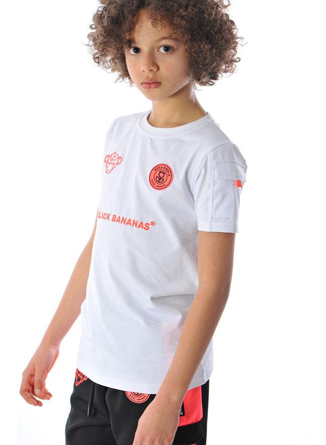 Black Bananas Kids - F.C. Goal Tee White Pink