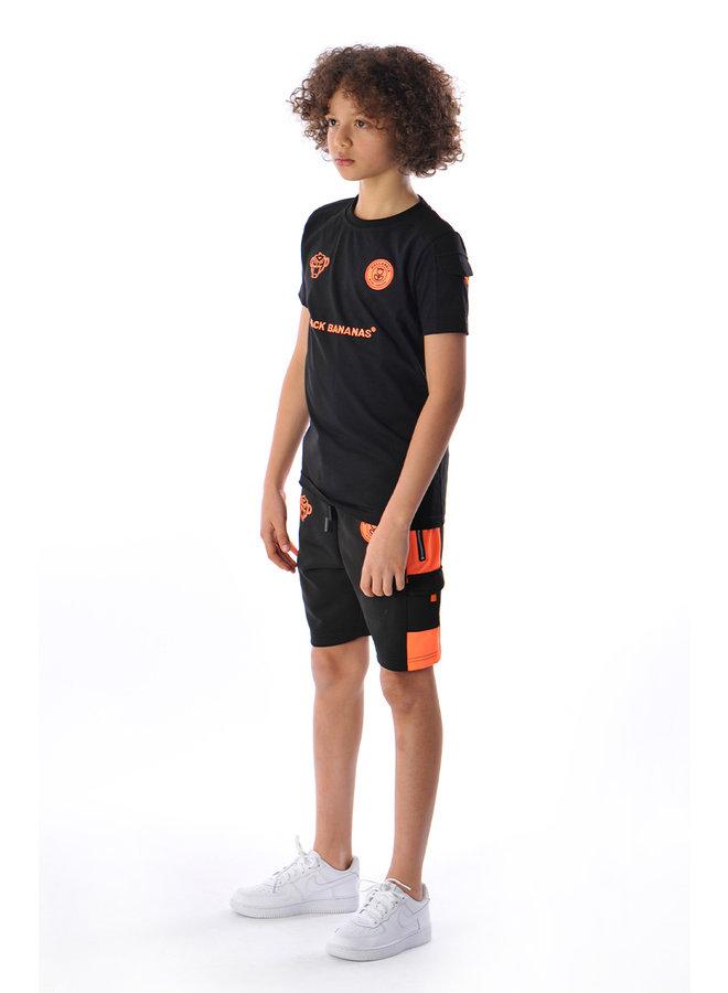 Black Bananas Kids - F.C. Goal Tee Black Orange
