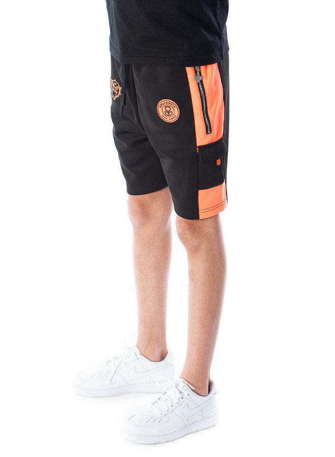 Black Bananas Kids - F.C. Goal Short Black Orange