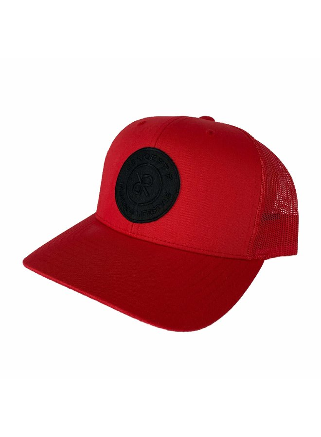 Concept R - Retro Trucker Cap Red Black