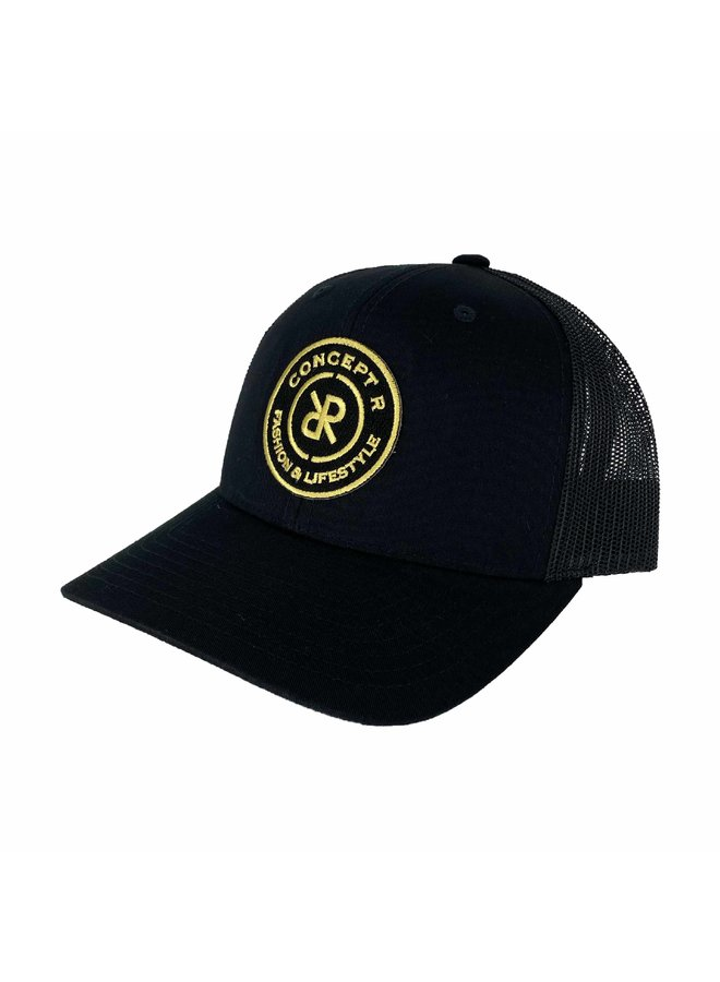 Concept R - Retro Trucker Cap Black Gold