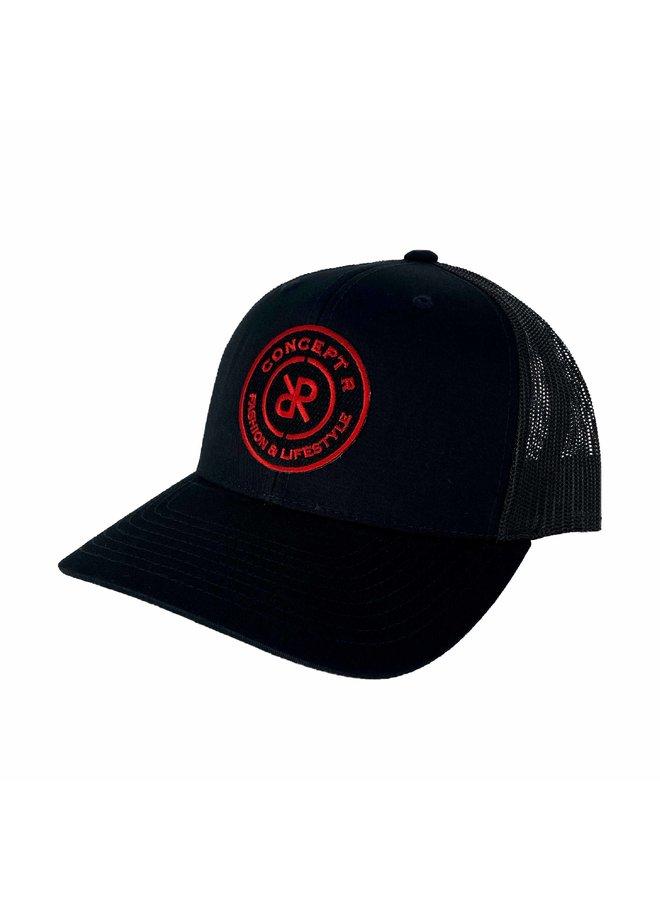 Concept R - Retro Trucker Cap Black Red