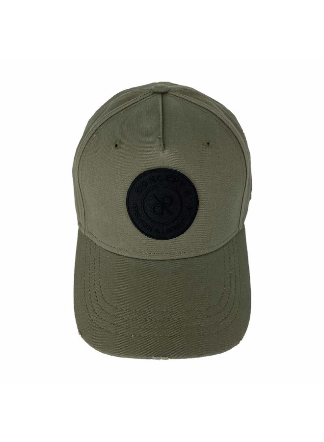 Concept R - Damaged Cap Army Green Black