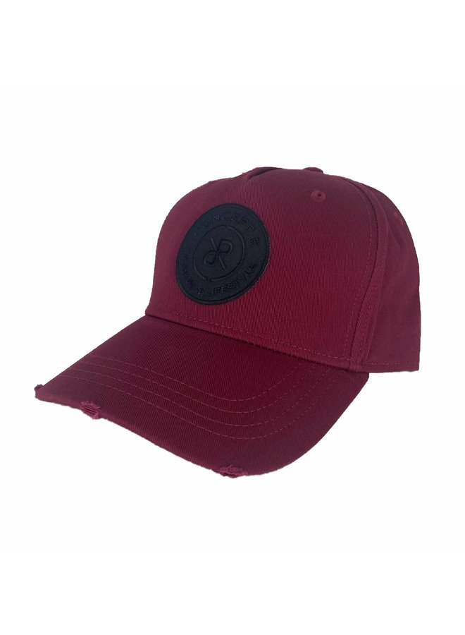 Concept R - Damaged Cap Bordeaux Black