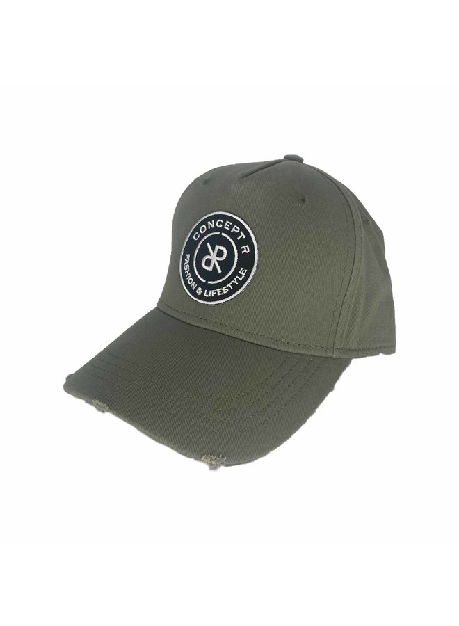 Concept R - Damaged Cap Army Green White