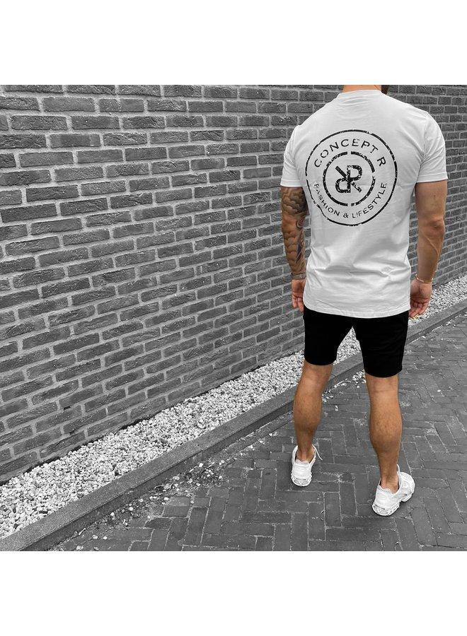 Concept R - Logo Damaged Shirt White