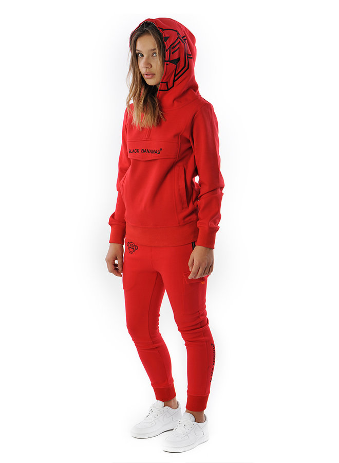 Black Bananas Kids - Incognito Hoodie Red