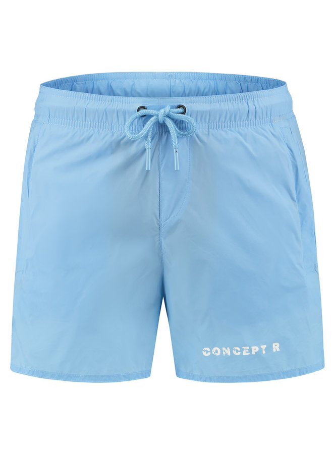 Concept R - Swimshort Light Blue Letters