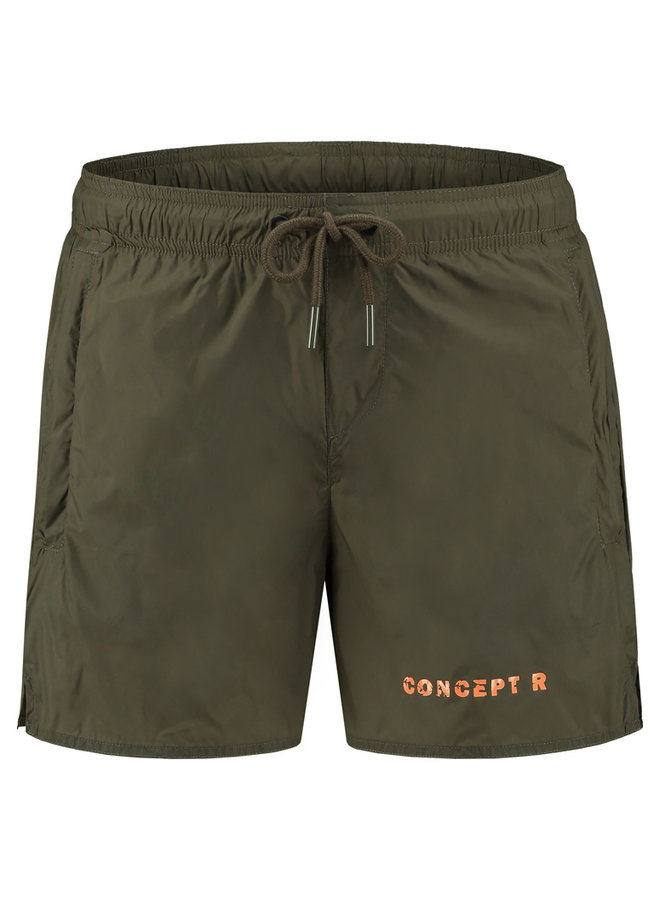 Concept R - Swimshort Army Green Letters