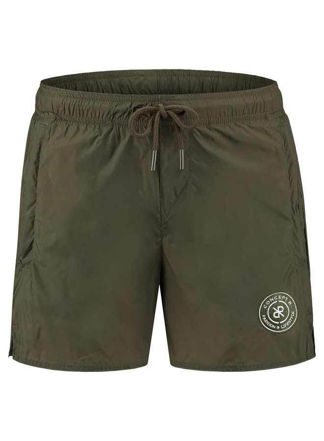 Concept R - Swimshort Army Green Logo