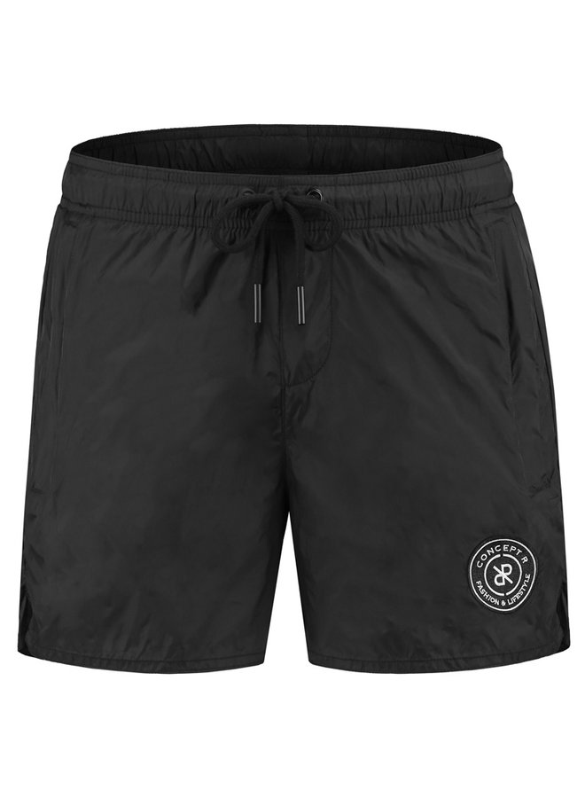 Concept R - Swimshort Black White Logo