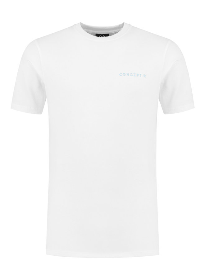 Concept R - Logo Damaged Shirt White Light Blue