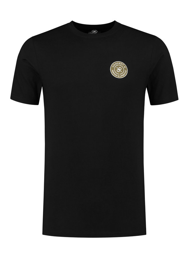 Concept R - Brand Shirt Black Logo Army Green