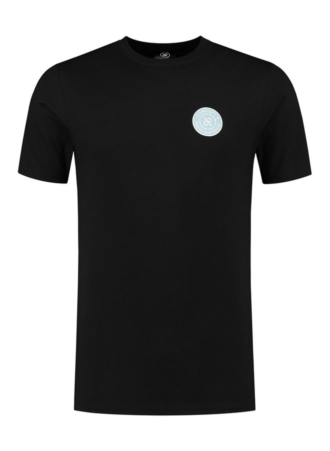Concept R - Brand Shirt Black Logo Light Blue