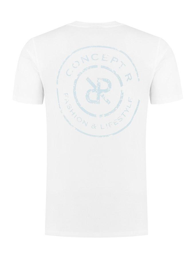 Concept R Kids - Logo Damaged Shirt White Light Blue