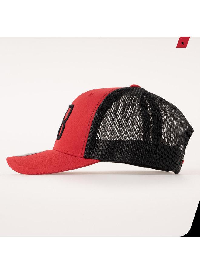 AB Lifestyle - AB Retro Trucker Cap 2 Tone Red / Black