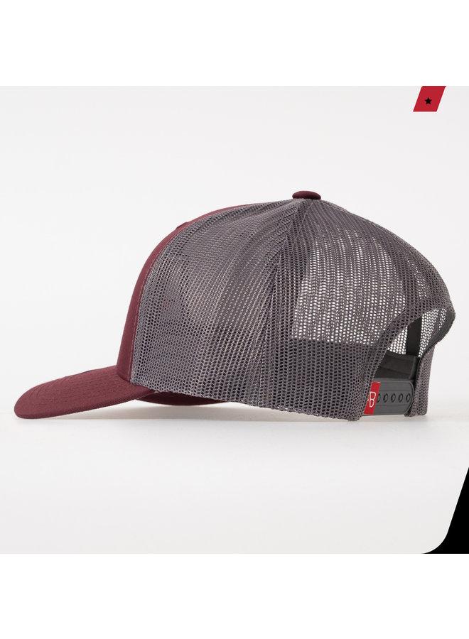 AB Lifestyle - AB Retro Trucker Cap 2 Tone Maroon / Grey