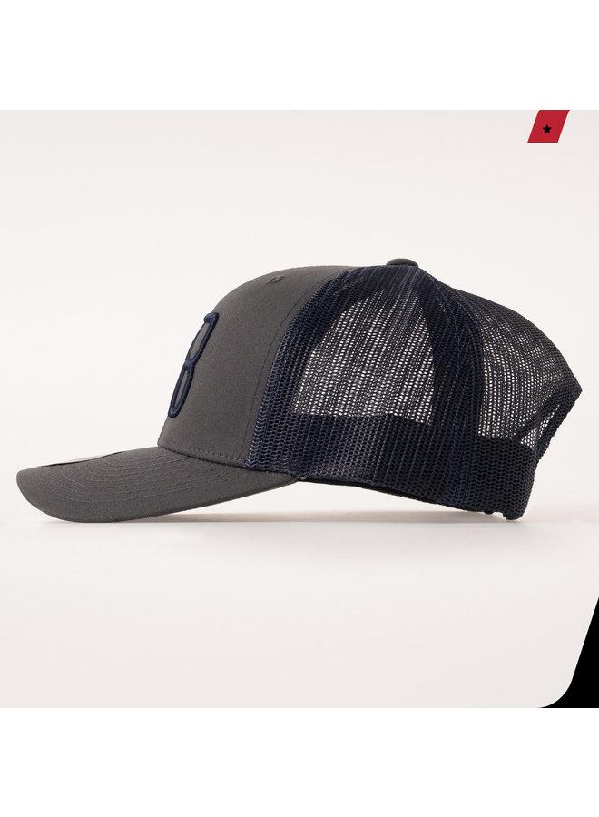 AB Lifestyle - AB Retro Trucker Cap 2 Tone Dark Grey / Navy