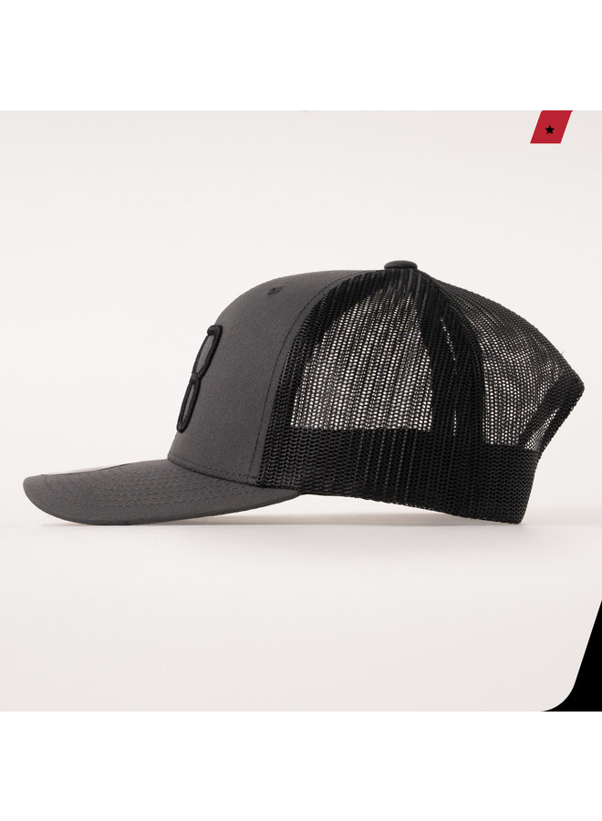 AB Lifestyle - AB Retro Trucker Cap 2 Tone Dark Grey / Black