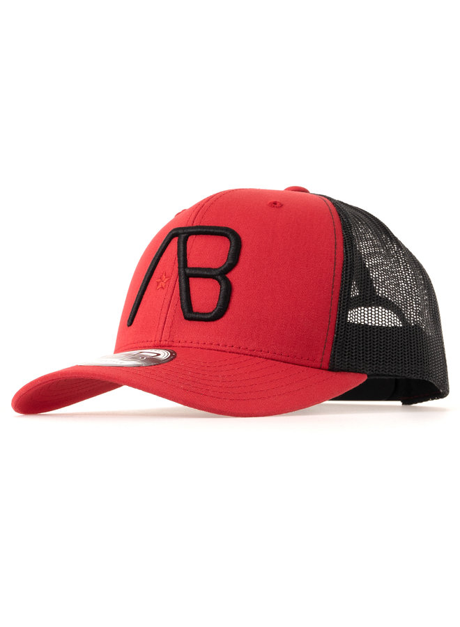 AB Lifestyle - AB Retro Trucker Cap 2 Tone Red / Black