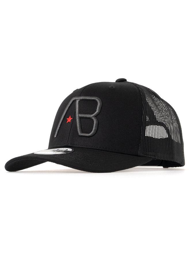 AB Lifestyle - AB Retro Trucker Cap Black/Dark Grey