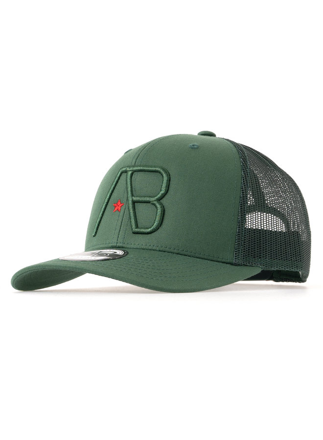 AB Lifestyle - AB Retro Trucker Cap Green