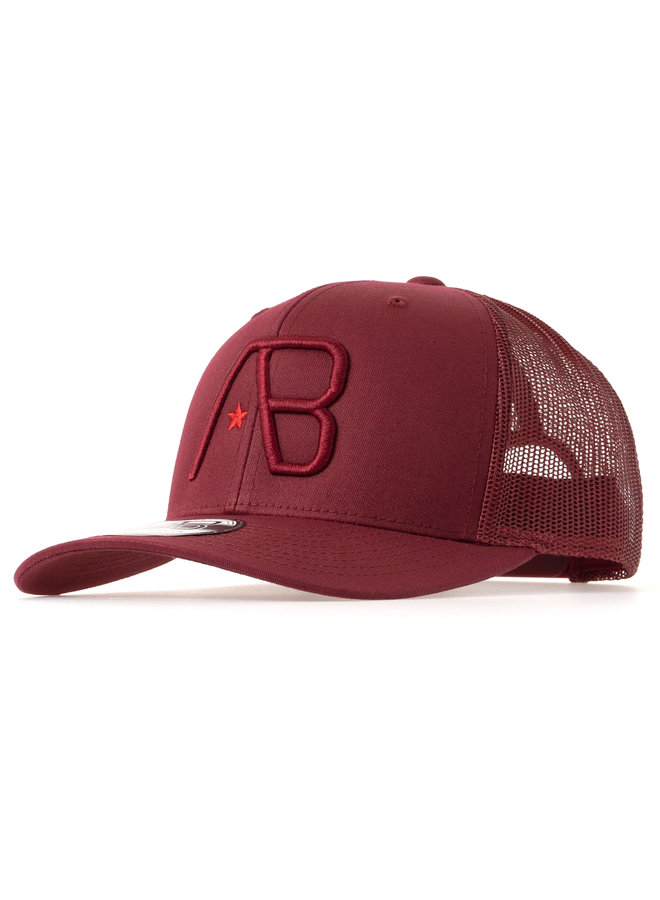 AB Lifestyle - AB Retro Trucker Cap Cranberry