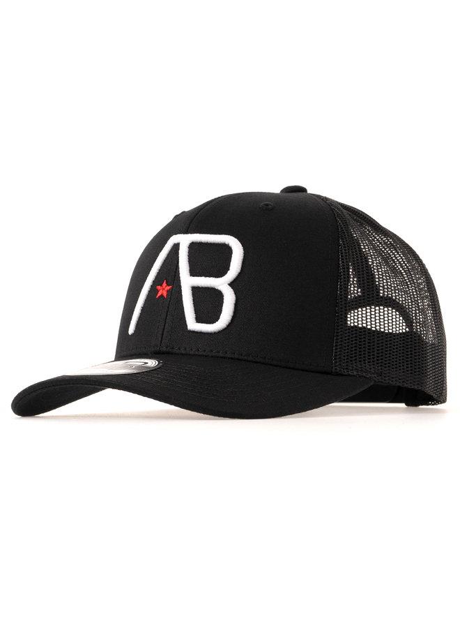 AB Lifestyle - AB Retro Trucker Cap White on Black