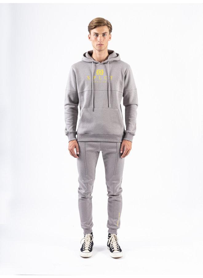 XPLCT Studios - Brand Hoodie Grey / Yellow